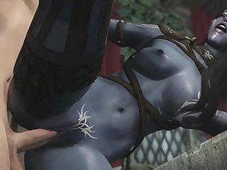 3d dark elf mom has an affair with human knight hentai - hentai