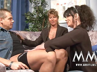 MMV Films Mature crammer having fun with a couple