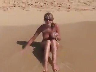 Sexy Cute Big Boobs Girl Open-air Fianc