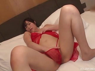 Ayaha Miori knows how to prepares her pussy for hard sex with her friend