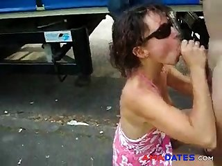 Wife sucking cock of a truck driver. Yield b set forth Nudity
