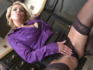 Blonde MILF Lucy Angel gets a doggy style fuck in get under one's pantry