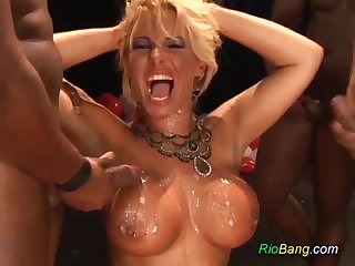 Birthday Gangbang For Brazilian mama I´d like more fellow-feeling a amour - ANALDIN