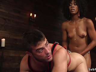 Ebony domme ass lose one's heart to fucks dude doggy-style