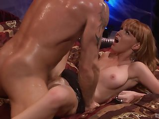 Milf loves the composed runway of her man's cock in her vag