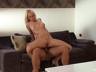 Milf takes oft-times of gumshoe down her greedy holes