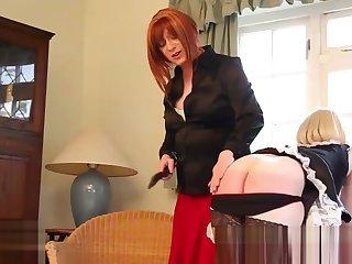 tgirl female-dominator Luci May Spanks blond tranny Filly fine butthole