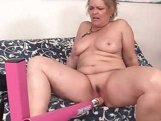 Horny older women get their old pussies stretched wide and enduring by dildos