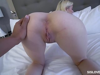 Jessie Saint gets fucked by hard friend's penis while she moans
