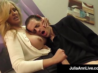 Julia Ann is a screwing blondie female, who loves near put on boners and make them pour out