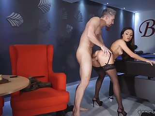 Martina Smeraldi gets fucked and creampied hard by pool table