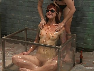Shake out Shae Flanigan humiliates her two female slaves be proper of you