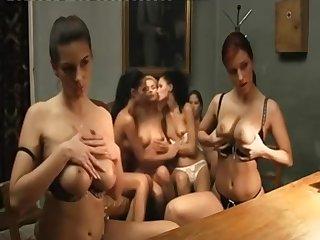 Retro movie hot sexual congress party scene
