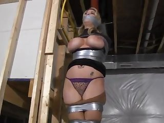 Bounding Fair-Haired Cougar With Humongous Boobs