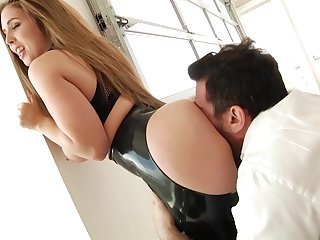 Lena likes to take a crack at gentle anal sex and to get a careful creampie after she cums