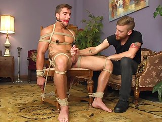 Muscular male acts obedient here scenes of gay bondage XXX