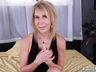 Hot woman quit 65 Erica Lauren is jacking off hard and big cock