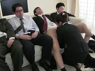 Sexy Hayakawa Iori sucks several cocks dry and gets imperceivable in cum