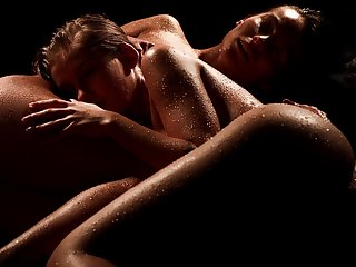 Erotic lesbian coitus put paid to cuties Lexi Dona and Tiffany Tatum