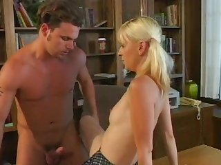 Romantic pussy added to ass going to bed for skinny blonde Mia Starr