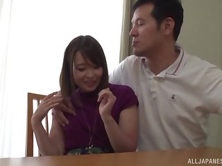 Closeup video for passionate shafting thither a cute Japanese darling