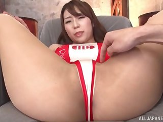 Quickie fucking with hot ass Japanese porn model Hachino Tsubasa