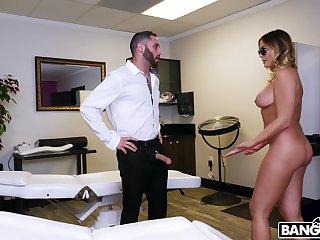 Hardcore fucking with curvy blonde cougar Blair William. HD