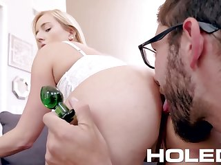 Prurient babe Kate England is toying anal hole before crazy sex fun