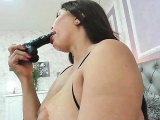 Hideous latina milf blowjob