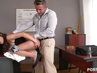 Joyless Anita Bellini stimulates her clit after a long time being fucked harder than ever GP1066