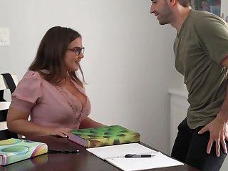 Natasha Nice Takes Ejaculation On Huge Melons