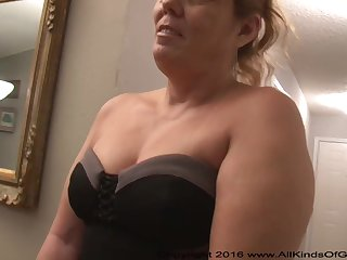 Mexican grandmother gilf with spacious pest attempts out for assfuck incompetent pornography