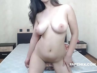 Big Tits Camwhore Plays With The brush Tight Pink Pussy